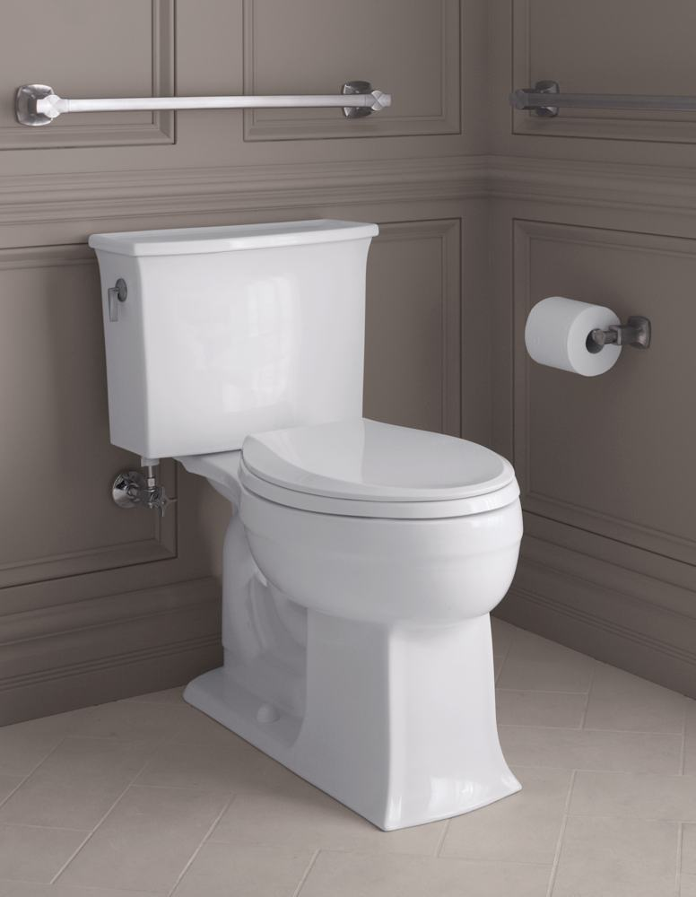 Amazon.com: KOHLER K-3551-96 Archer Comfort Height Two-Piece Elongated ...