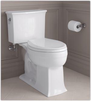 comfort height twopiece elongated 128 gpf toilet white amazoncom