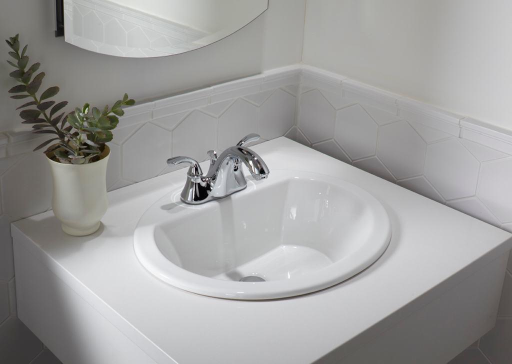 Kohler Lavatory Sink : KOHLER K-2699-8-0 Bryant Oval Self-Rimming Bathroom Sink with 8-Inch ...