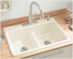 ... Deerfield Kohler Smart Divide Sink By Kohler K 5838 4 0 Deerfield Smart  Divide Self Rimming ...