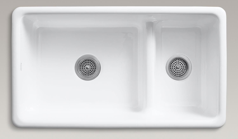 Kohler White Cast Iron Kitchen Sink