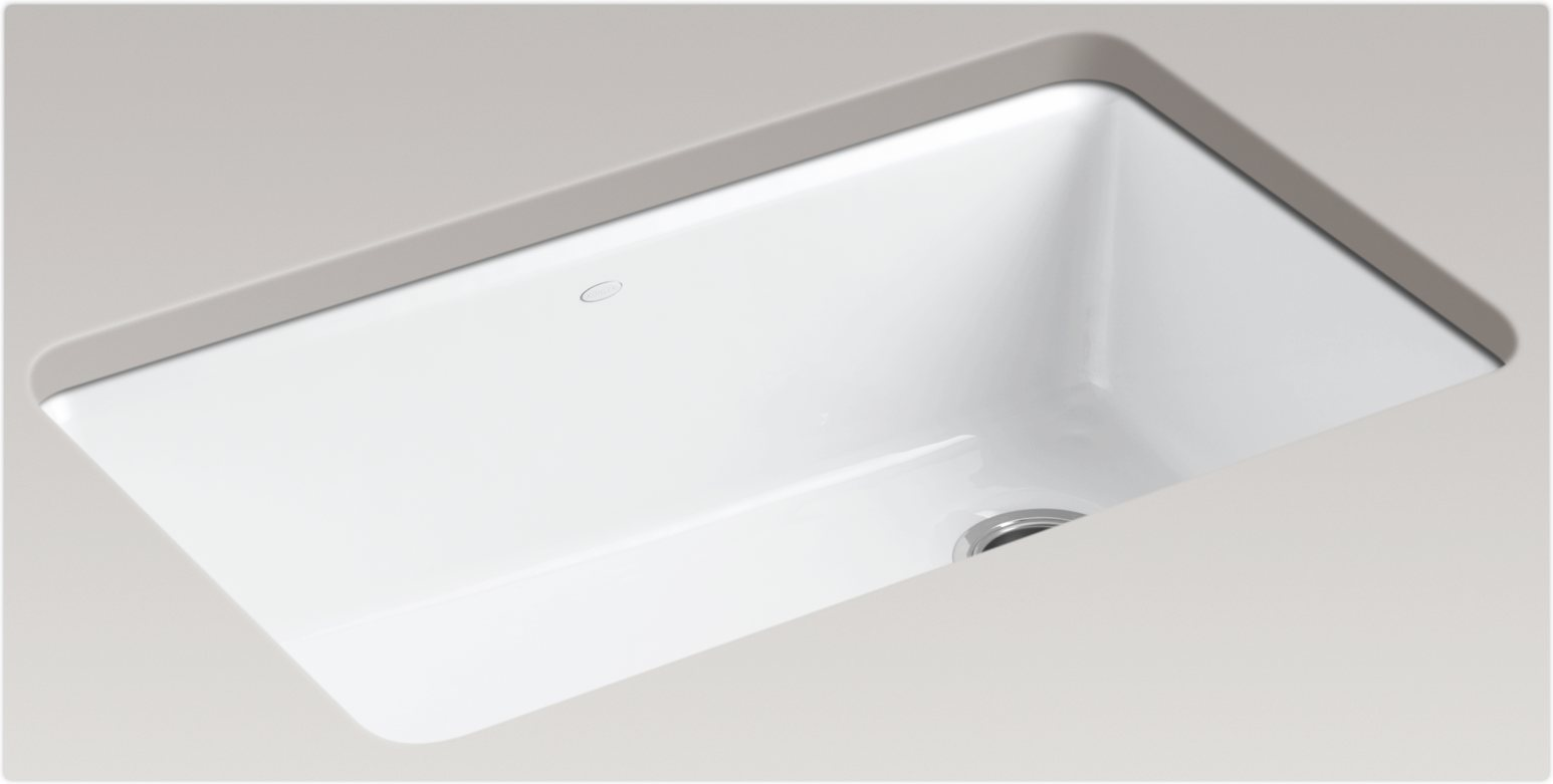 White Undermount Sink : White Single Bowl Undermount Kitchen Sinks