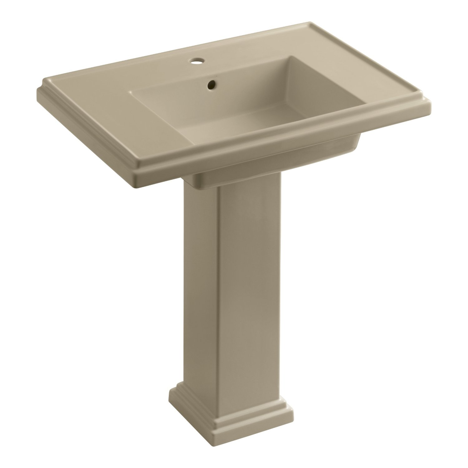 Amazon.com: KOHLER K-2845-1-0 Tresham 30-inch Pedestal Bathroom Sink ...