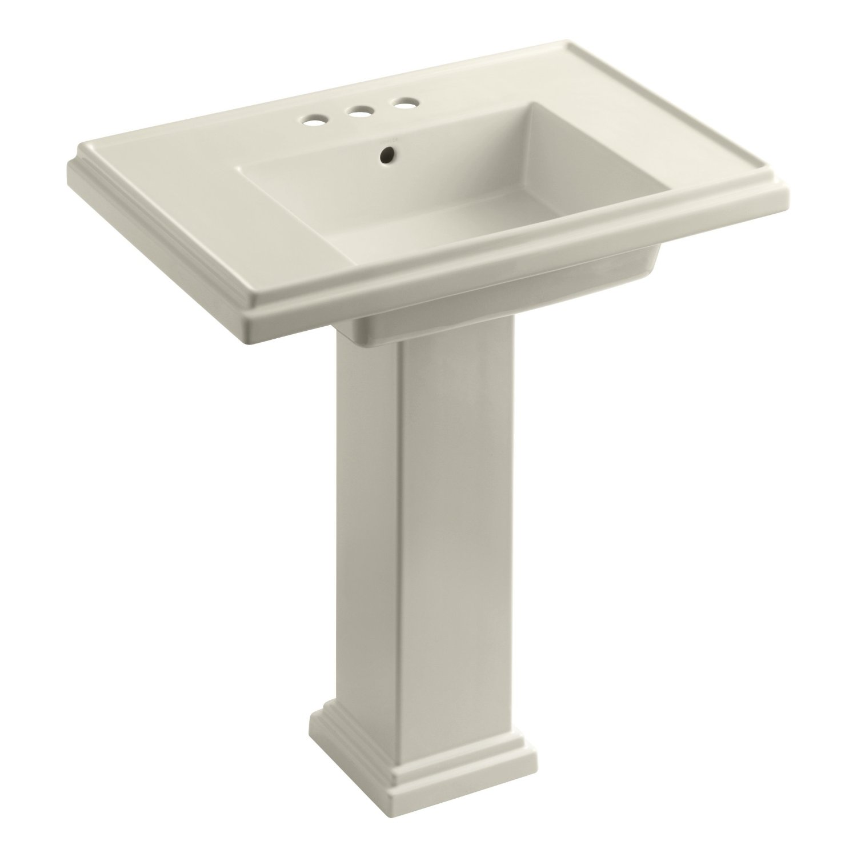 Tresham Pedestal Sink : KOHLER K-2845-4-7 Tresham 30-inch Pedestal Bathroom Sink with 4-inch ...