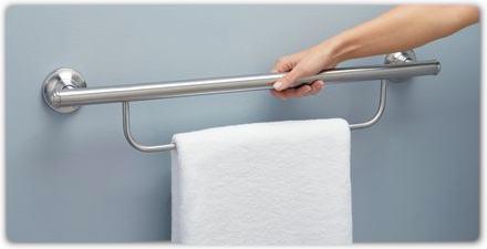 grab bar towel rack