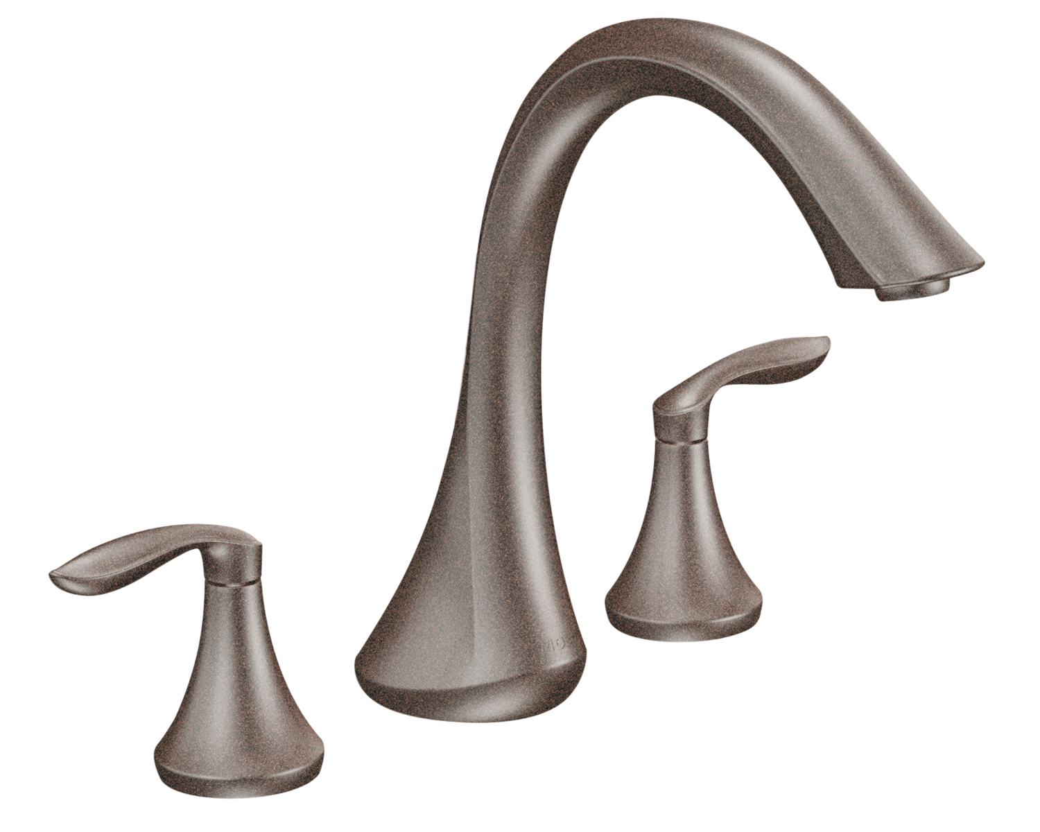Moen t943orb eva two handle high arc roman tub faucet without valve oil rubbed bronze bathtub - Moen shower faucet ...