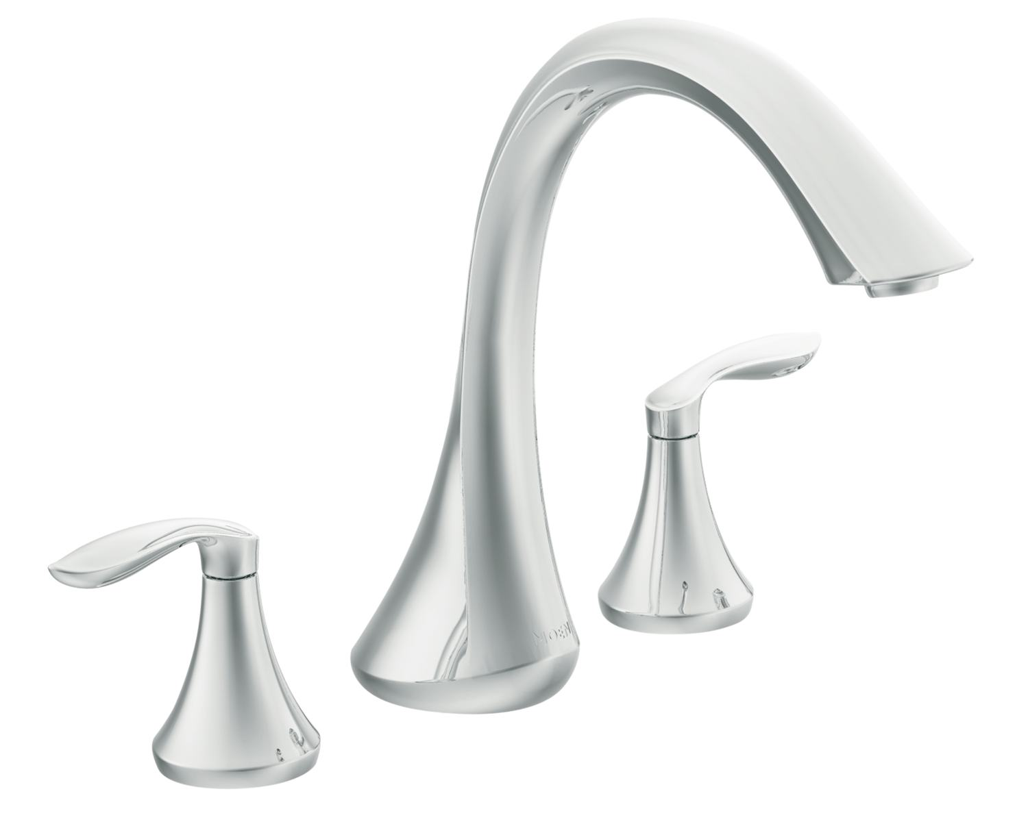 Moen T943 Eva Two Handle High Arc Roman Tub Faucet Without Valve Chrome Ba