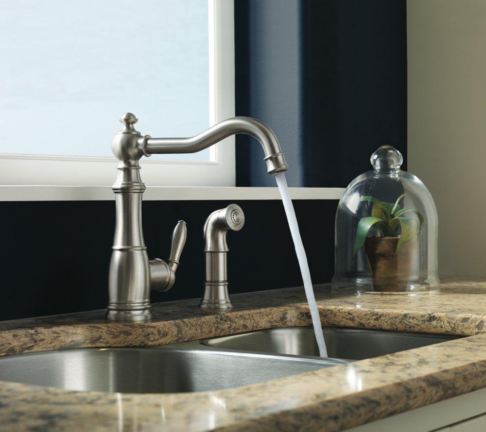 Moen S Weymouth e Handle High Arc Kitchen Faucet