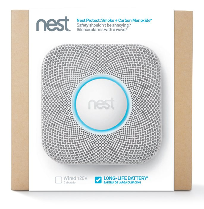 nest protect wifi enabled smoke detector. Black Bedroom Furniture Sets. Home Design Ideas