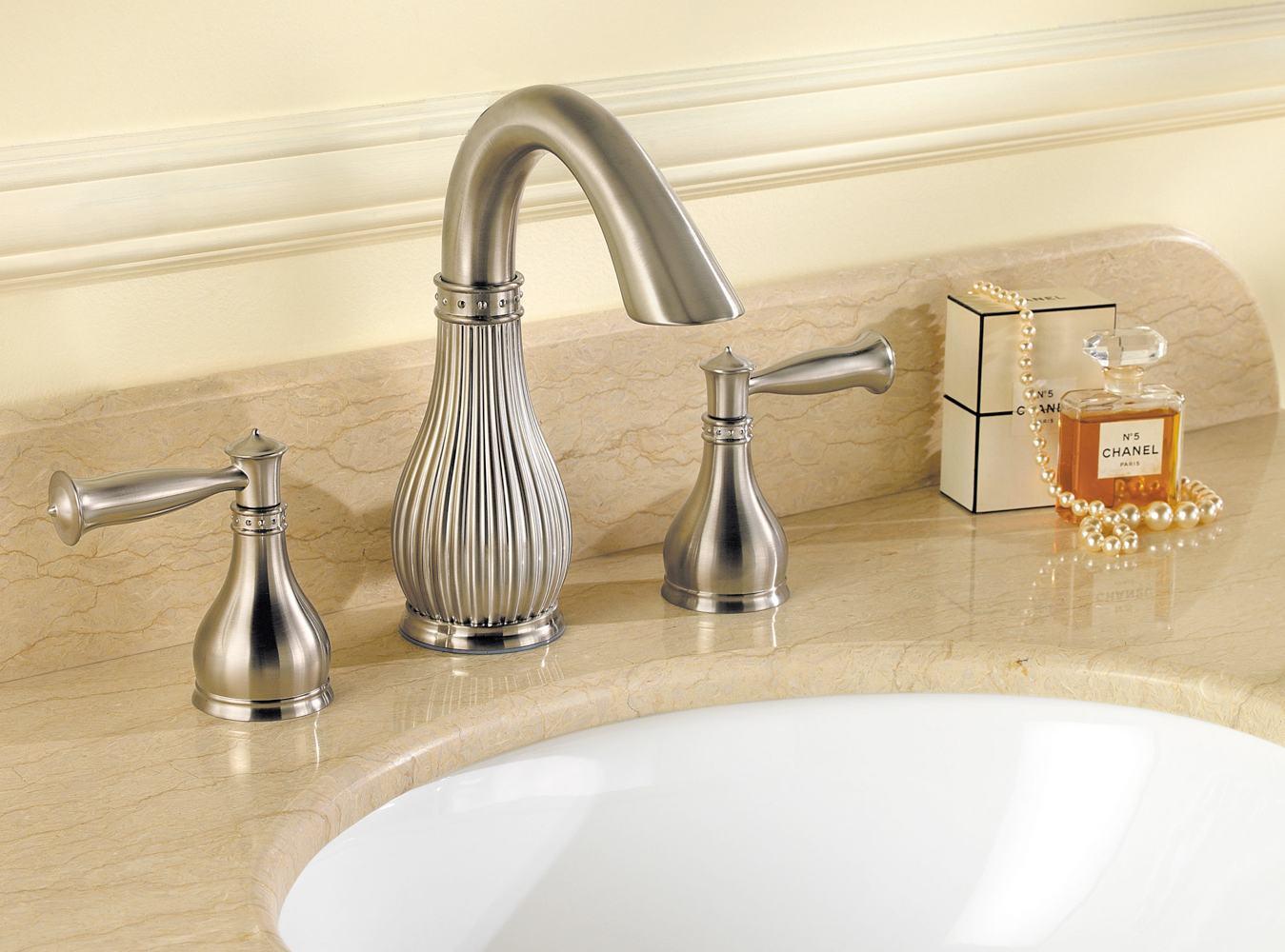 "Widespread Bathroom Sink Faucets: Pfister Virtue 2-Handle 8"" Widespread Bathroom Faucet"