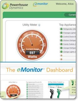 eMonitor dashboard