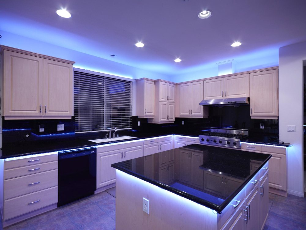 multicolor led lighting kit under counter fixtures