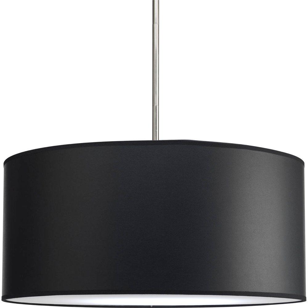light stem p5199 to make complete fixture 22 inch drum shade black. Black Bedroom Furniture Sets. Home Design Ideas