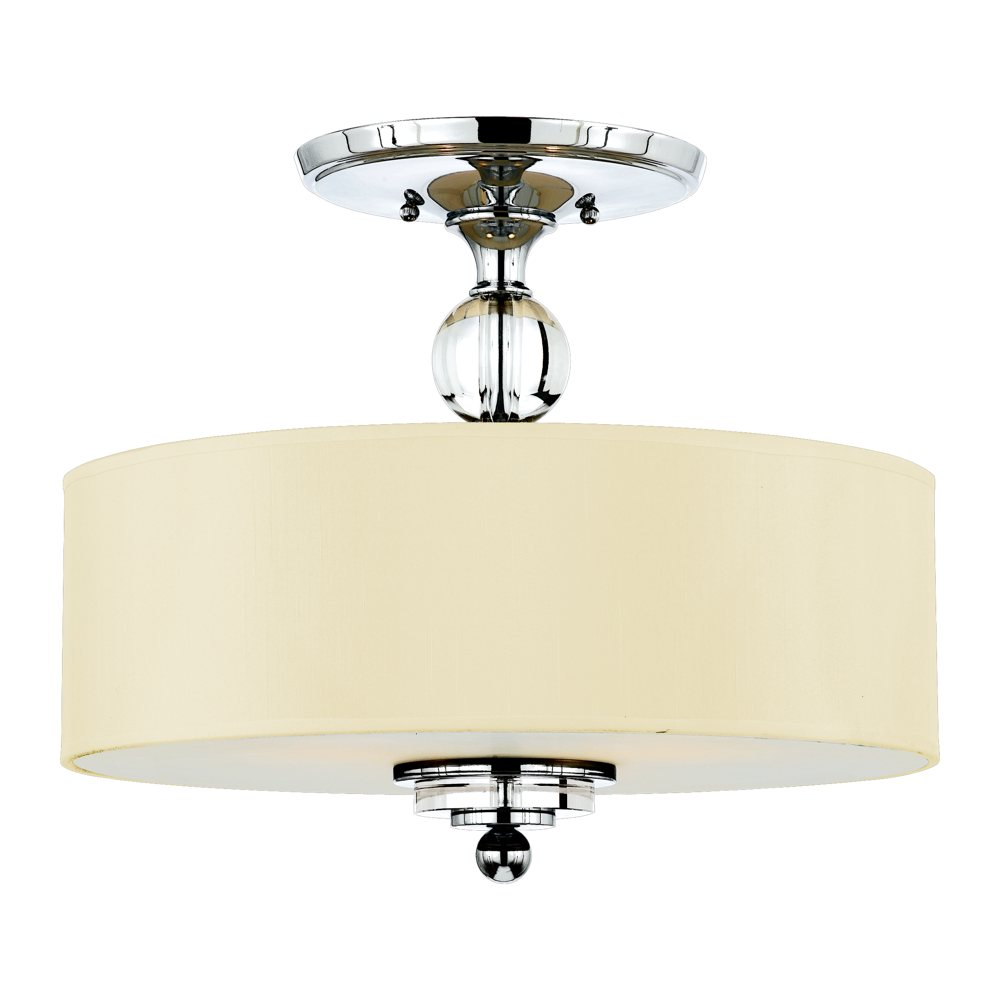 Quoizel dw1717c downtown 3 light 17 inchsemi flush mount for Kitchen spotlights amazon