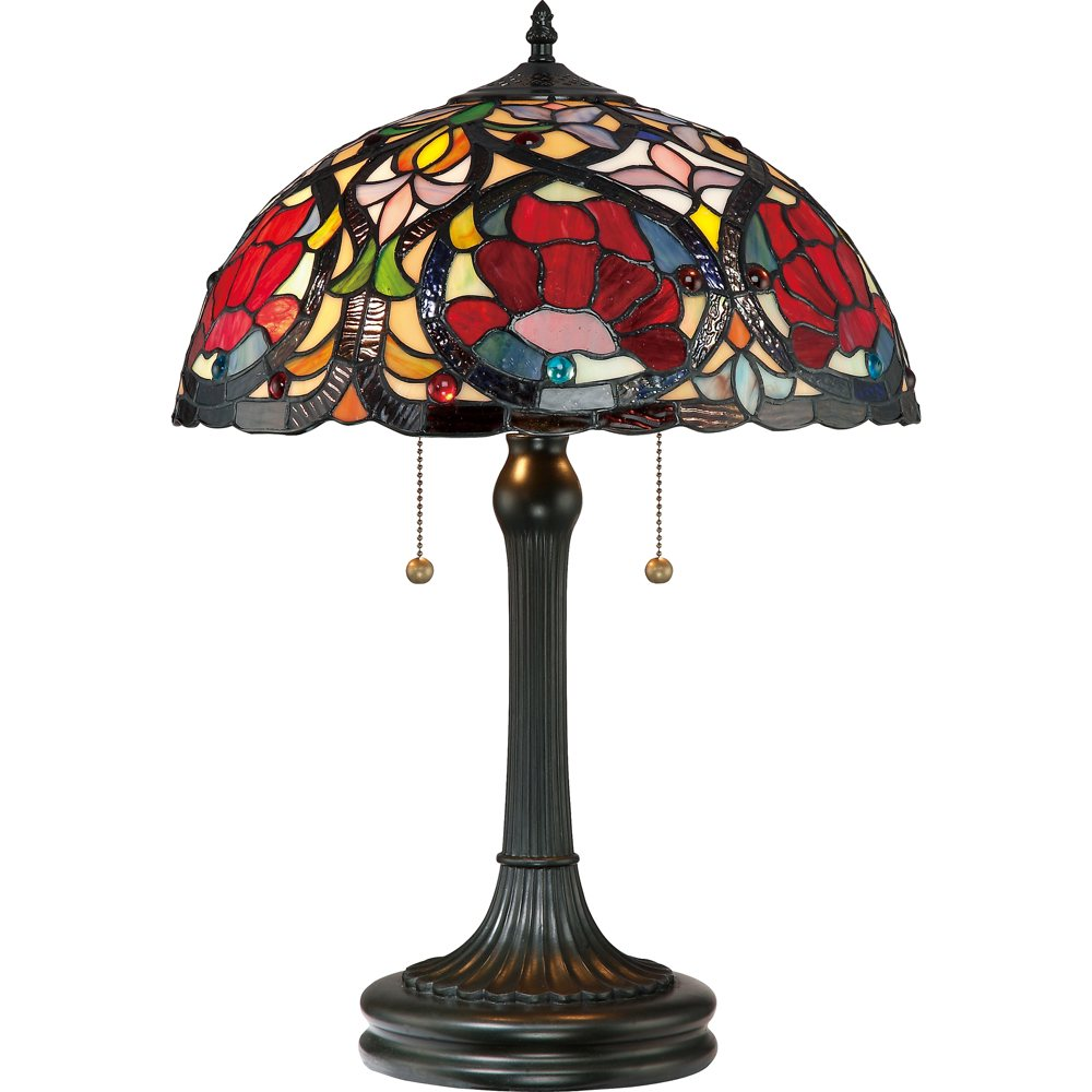 rtf879t larissa 2 light tiffany table lamp. Black Bedroom Furniture Sets. Home Design Ideas