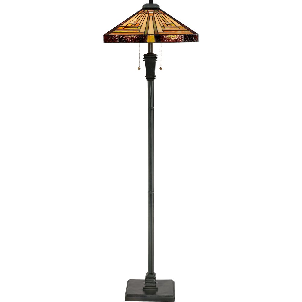 Quoizel tf885f stephen tiffany style 2 light 59 1 2 inch for Tiffany inspired floor lamp