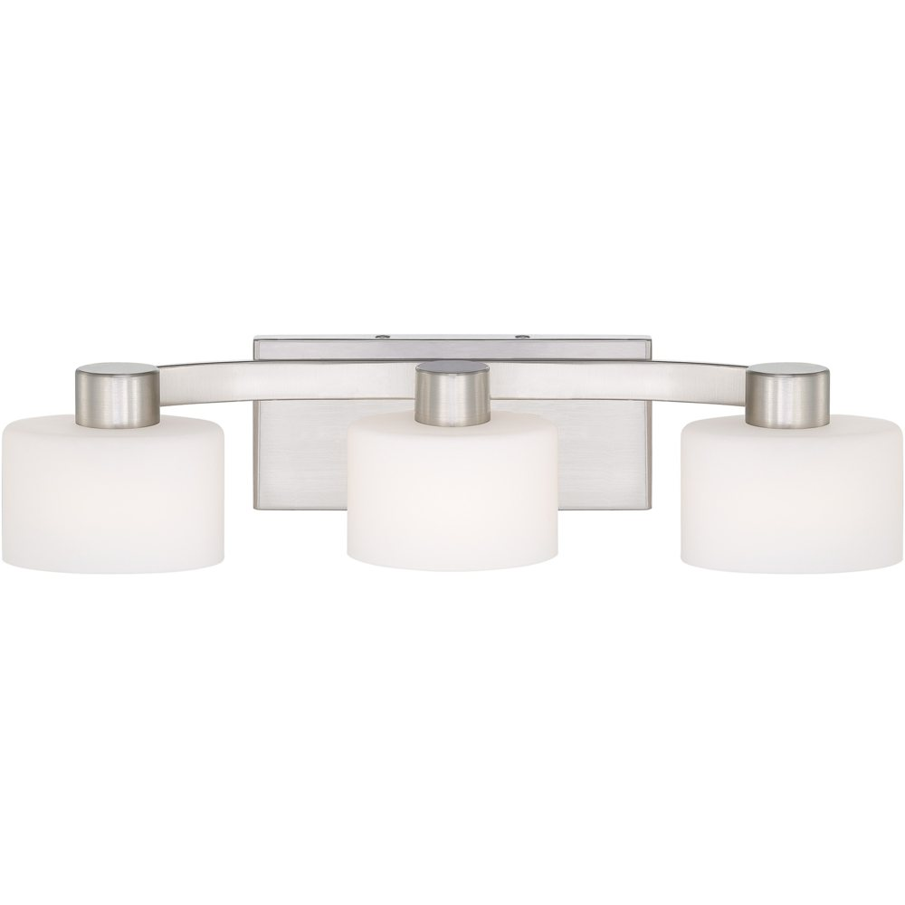 Quoizel Tu8603bn Tatum 3 Light Bath Fixture Brushed Nickel Home Improvement