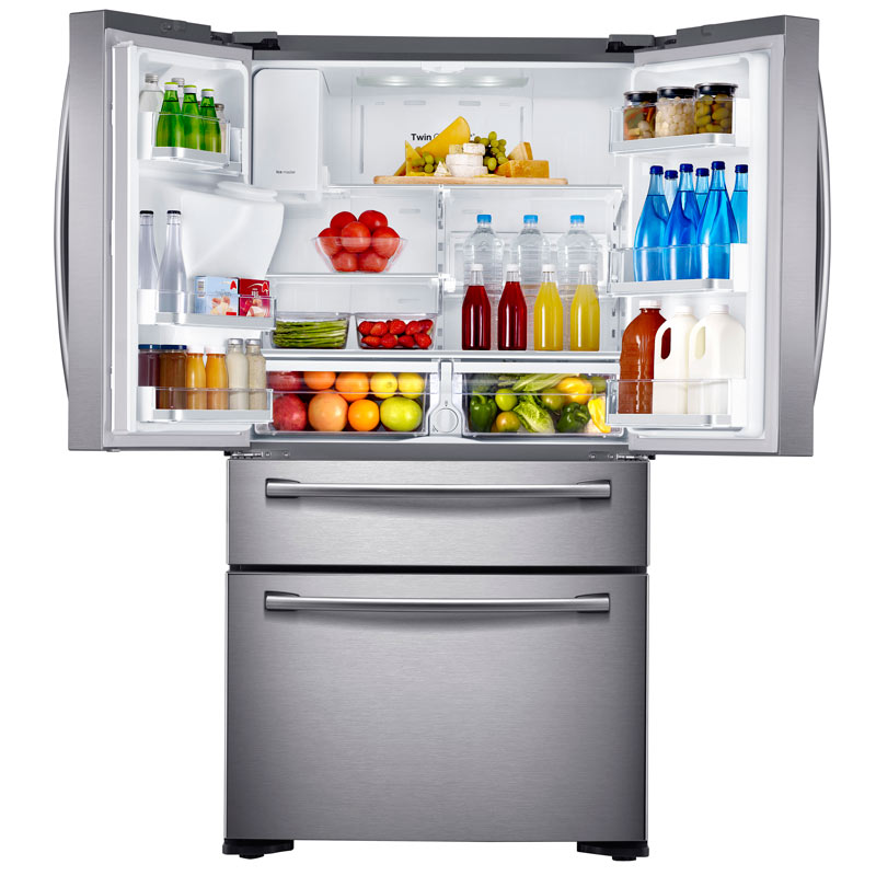 French Door Cabinet Depth Refrigerator Amazon.com: Samsung RF24FSEDBSR Stainless Steel Counter ...