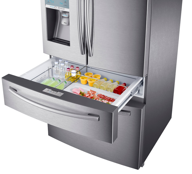 Samsung 4-Door Refrigerator with Automatic Sparkling Water Dispenser