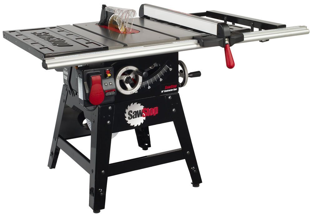 Sawstop cns175 sfa30 1 3 4 hp contractor saw with 30 inch aluminum extrusion fence and rail kit Table saw fence