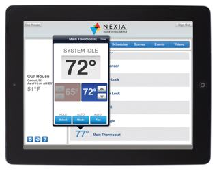 nexia ipad thermostat