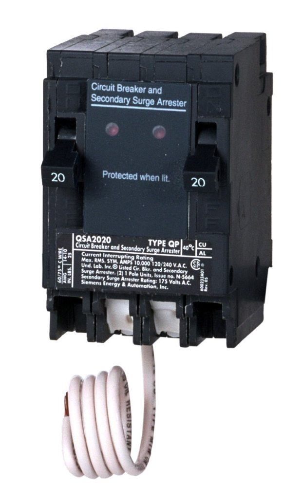 Siemens whole house surge protection with two amp