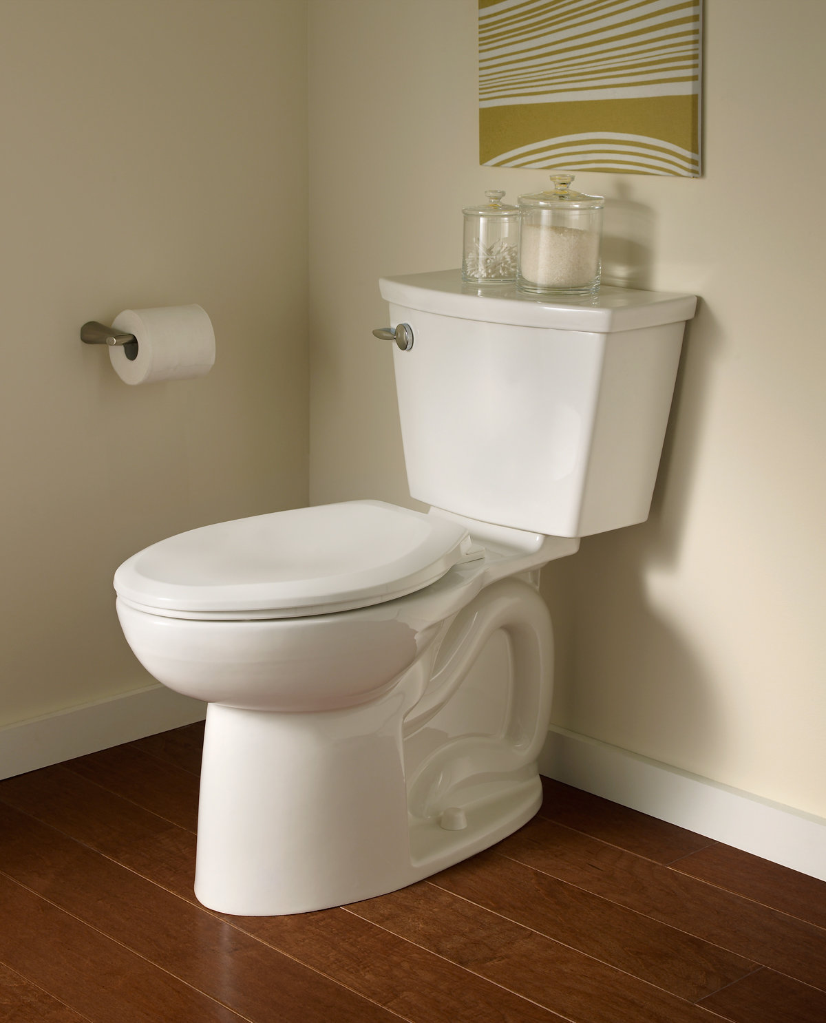 Toilet : ... Cadet 3 Right Height FloWise Elongated Toilet, Linen: Home Improvement