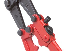 Tubular steel handles with cushioned, non-slip rubber grips