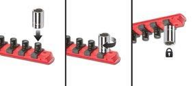 Twist-to-lock Socket Clips