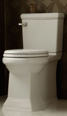 Town Square FloWise concealed trapway right height elongated toilet is