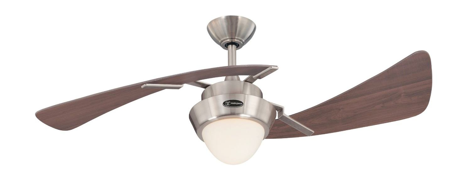 ... Ceiling Fan, Brushed Nickel with Opal Frosted Glass - - Amazon.com