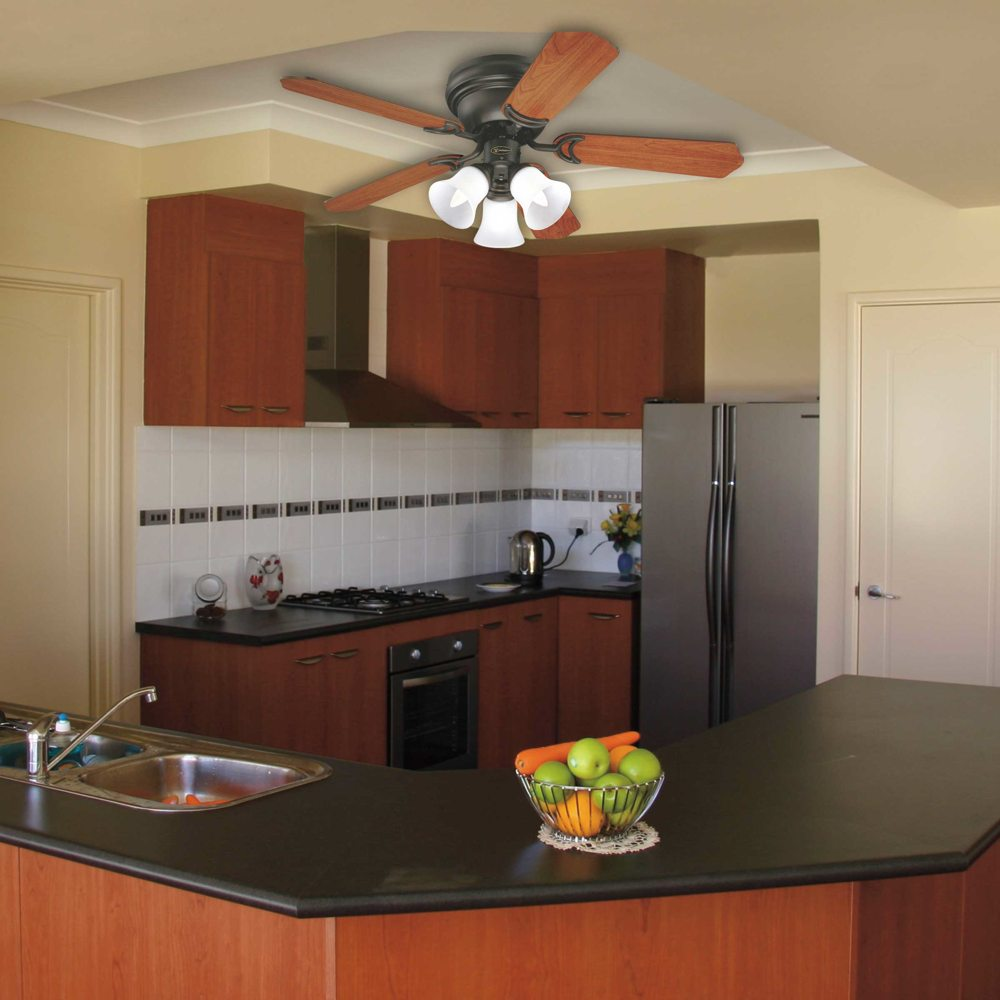 Impressive Ceiling Fan For Kitchen With Lights Kitchen Awesome ...