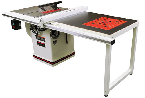 Jet 708712pk 3hp 50 inch xacta saw with downdraft table for 10 inch table legs