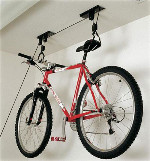 Racor PBH-1R Ceiling-Mounted Bike Lift - Bike Storage
