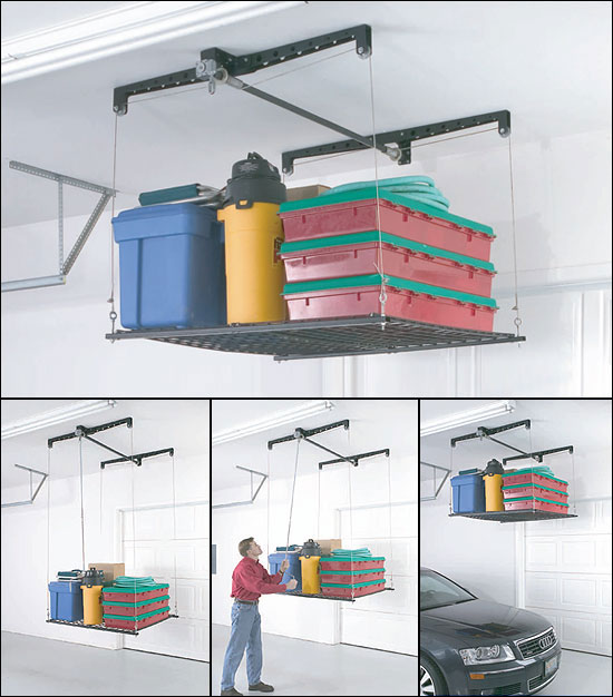 Garage Pulley Overhead Hoist Hanging Storage System Kit Ebay