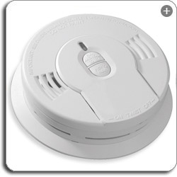 KIDDE 0910 sm Kidde 0910 10 Year Sealed Lithium Battery Operated Smoke Alarm with Memory and Smart Hush