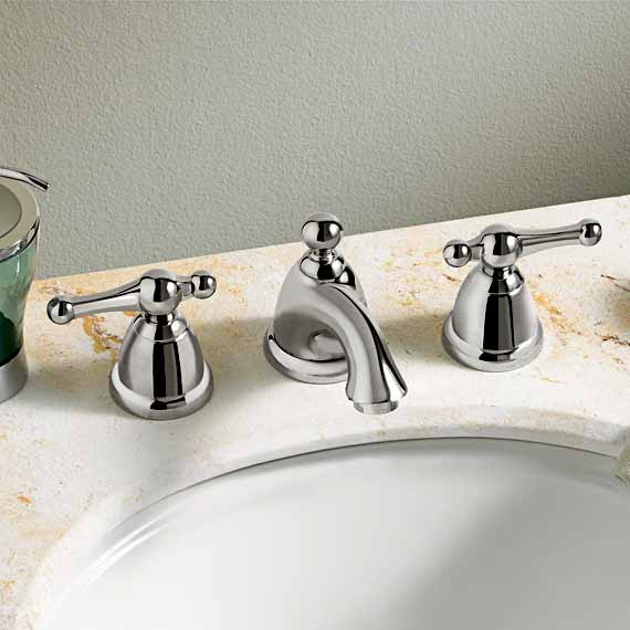 The Enfield Two-Handle Widespread Bathroom Faucet is available in a