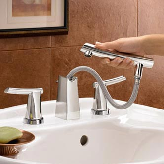 American Standard Green Tea Two Lever Widespread Lavatory Faucet