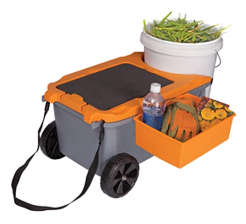 fiskars 6220 sit and store garden caddy with