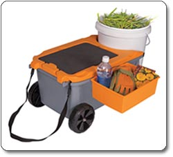 Gardening s Fiskars 6220 Sit And Store Garden Caddy With Built In