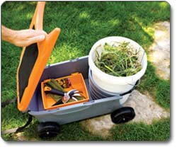 Fiskars 6220 Sit And Store Garden Caddy With Built In Seat