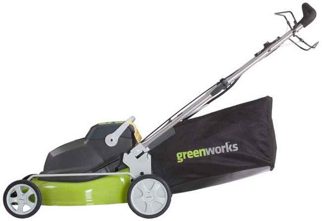 Greenworks 25092 18-Inch, 24-Volt Two-in-One Self-Propelled Mower