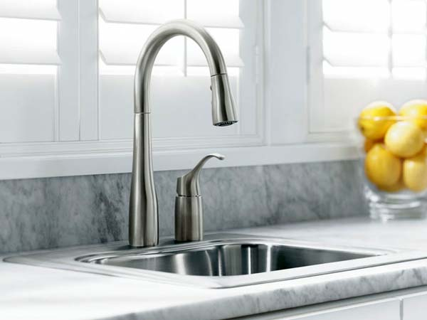 KOHLER K 647 VS Simplice Pull Down Kitchen Sink Faucet