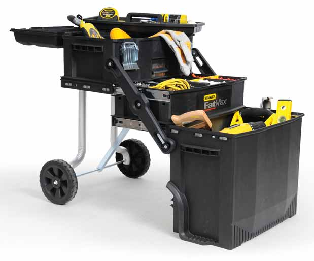 In The Bottom Compartment, I Have A Circ Saw, Recip, Corded Drill, Cordless  Impact And Charger, And A Pneumatic Stapler