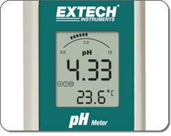 Extech ExStik PH100 Waterproof pH Meter - LCD display