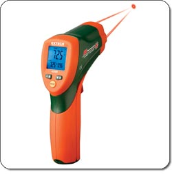 Extech 42509 Dual Laser IR Thermometer with Color Alert