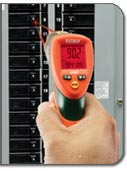 Extech 42509 Dual Laser IR Thermometer with Color Alert - too hot