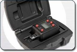 Powerbuilt Digital Torque Adapter in a hard-shell case