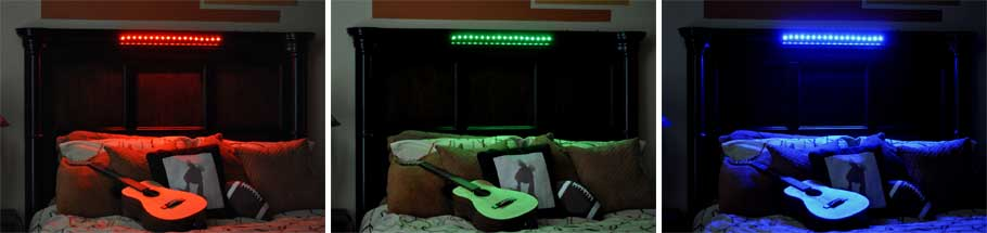OLS Multi-Color Lighting - bedroom