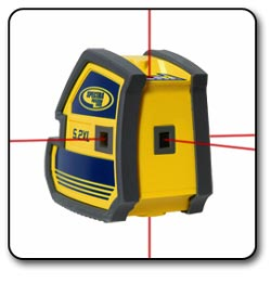 Spectra Precision 5.2XL Multi-Purpose 5 Point and CrossLine Laser with Soft Carrying Cas
